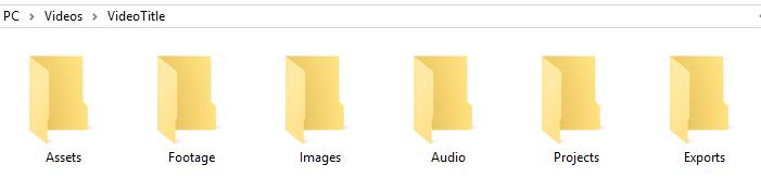 Video Editing File Organization